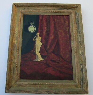 Charles Joffe 1940'S Oil Painting Still Life Surreal Modernist New York Antique