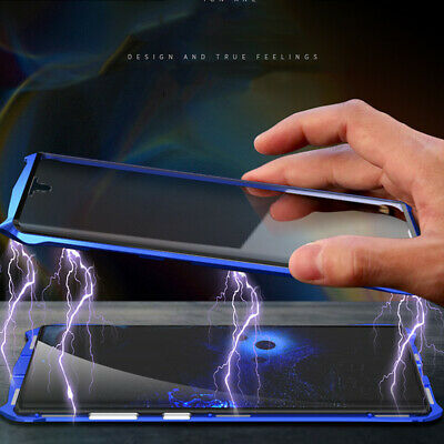 Full Protective Magnet Metal Tempered Glass Case Cover For Samsung Note 10/Plus