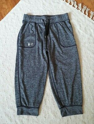 XS UNDER ARMOUR Women/'s UA Threadborne Seamless Heathered Crop Capris NWT Size
