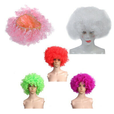 Short Curly Wig Afro-Hair Costume Cosplay Hairpiece white M5L4