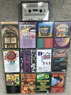 Lot Of 13  Cassette Tapes Rock, Country, Dance FREE SHIPPING