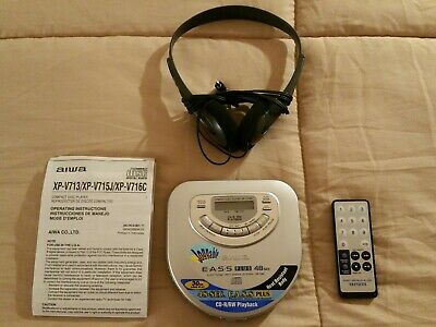 NEW! Aiwa XP-V716C Personal Compact Disc CD Player W/ Remote