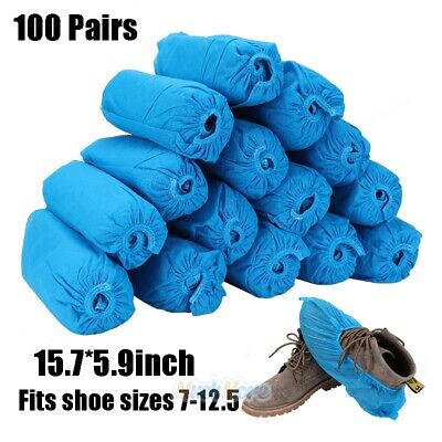 200 DISPOSABLE SHOE COVERS NON-SKID/ MEDICAL/Water Resistant XL TO SIZE 12.5 NEW