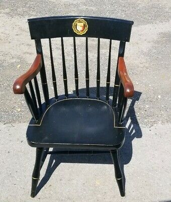 Rare Vintage Cornell University Windsor Arm Chair Nichols Stone Cornell Graduate