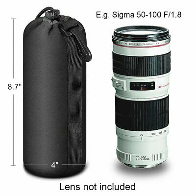 Universal DSLR Camera Lens Pouch Bag Case Soft Protector For Canon Nikon Sony