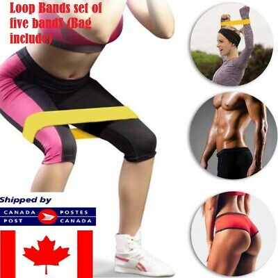 5pcs Resistance Loop Bands Elastic Pull Rope Bands for Sports Yoga Exercise Gym