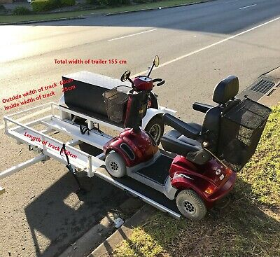 Trailer for mobility scooter with 2x ramps