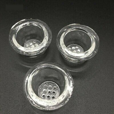 Silicon Hand Pipe Glass Replacement Bowl W/Honeycomb Screen Set of 2