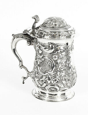 Antique George III Silver Tankard London by John King 1774  18th Century