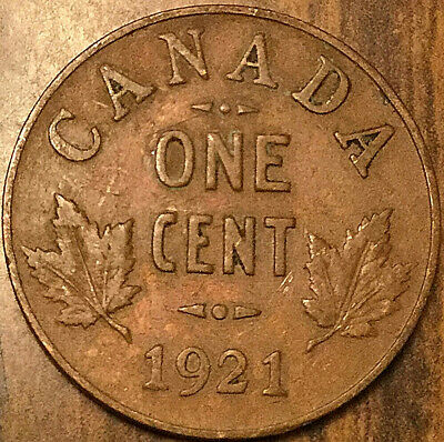 1921 Canada Small Cent Penny Small 1 Cent Coin