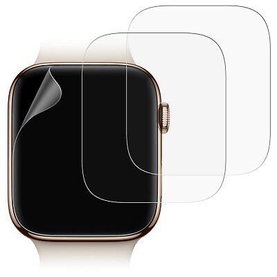 JETech Screen Protector for Apple Watch Series 4 (40mm) TPU Film Clear 3-Pack