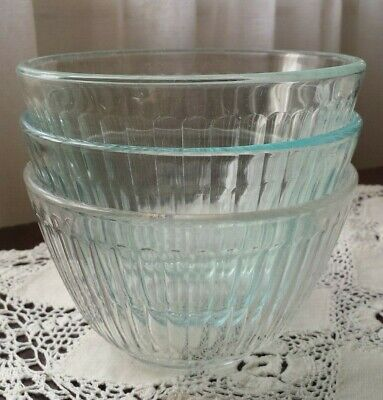 Vintage USA Pyrex 7401-s in Clear, Aqua Blue and Blue 750ml -RARE-