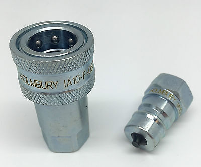 "Quick Release Fitting Bsp Hydraulic Connectors/Couplings Iso A - 1/4"" - 1"""