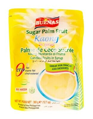 Buenas Sugar Palm Fruit Kaong in Sirup 360g Philippinen (6,92 EUR/kg)