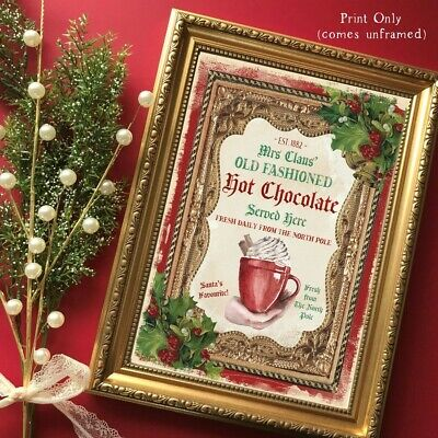Hot Chocolate Sign Christmas Wall Decor