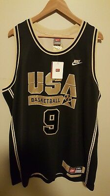 newest d277a 85dfc NIKE MICHAEL JORDAN #9 USA Olympic Dream Team 1992 Jersey Gold Stitched 2xl