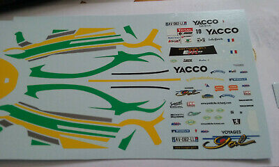decals decalcomanie deco pour peugeot 207 n10 gal  1/43