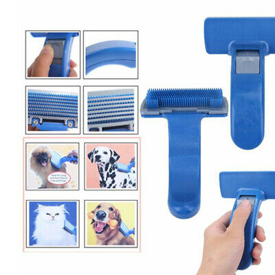 Pet Dog Cat Grooming Self Cleaning Slicker Brush Comb Shedding Tool Hair Fur LG