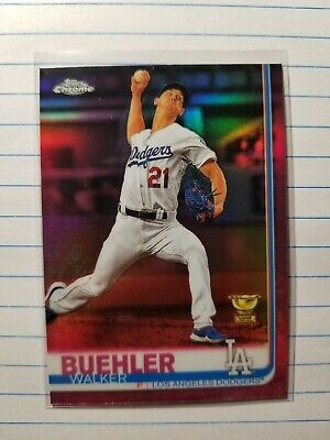 2019 Topps Chrome All Star Rookie Cup Pink Refractor Walker Buehler Dodgers SP