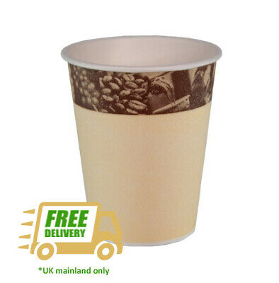 Benders 8oz/22cl Barrier Cup Cafe Bar Low Price Disposable Small Coffee Takeaway
