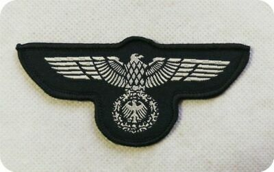 Ww2 Repro German Wehrmacht Eagle Silver Woven Patch Ww2 Style Badge Third Reich