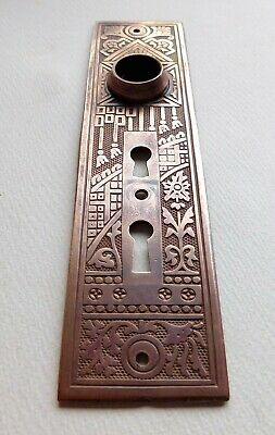 "Antique Corbin ""Ceylon"" cast bronze brass doorknob backplate ornate victorian"