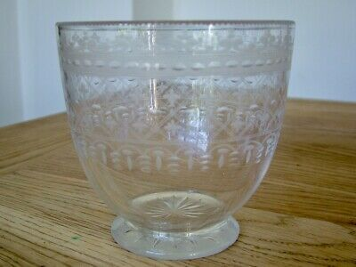 Genuine Antique Georgian Victorian Glass Mixing Bowl For Tea Caddy Canister