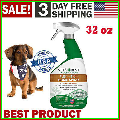 Vet's Best Flea and Tick Home Spray Flea Treatment for Dogs and Home Natural oil