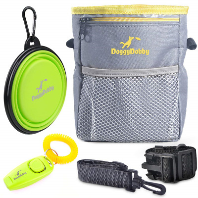 Extra Long Waist Strap Dog Training Pouch Treat Bag with Poop Bag Dispenser & &