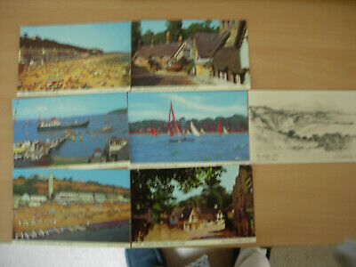 Isle of Wight-7 unposted vintage postcards.