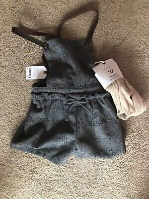 Bnwt Girls Next Dungarees With Tights 5-6