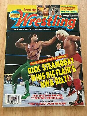 """Ricky """"The Dragon"""" Steamboat Signed Vintage 1987 Wrestling's Main Event Magazine"""