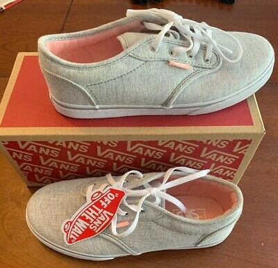 Details about Vans Boys Atwood Sneaker Gray Canvas Low Top Youth Size 7