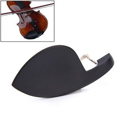 Black Chin Rest High Grade Ebony Wood and Comfortable Violin Chin Rest Pad 4//4 Size Violin Chin Rest Cover with Standard Bracket for Violinists Musical Instrument Accessory