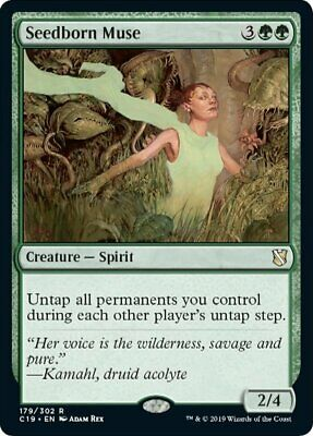 x1 Seedborn Muse MTG Commander 2019 R M/NM, English