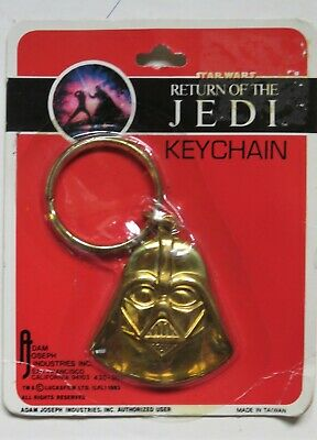 Star Wars ROTJ -1983 Metal Key Chain / Ring -Darth Vader Sealed VNM - Lucasfilms