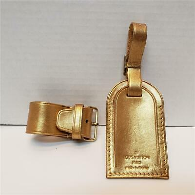 LOUIS VUITTON ID Name Luggage Tag for Luggage GOLD RECYCLED HAND PAINTED