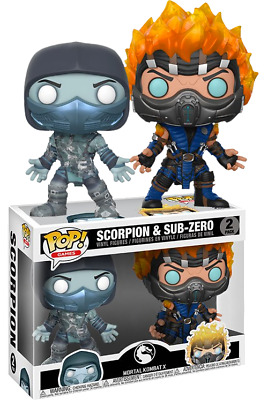 Funko Pop! Mortal Kombat - Scorpion and Sub Zero - 2-Pack - Exclusive