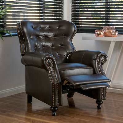 Walder Bonded Leather Recliner Club Chair by Christopher Brown Standard