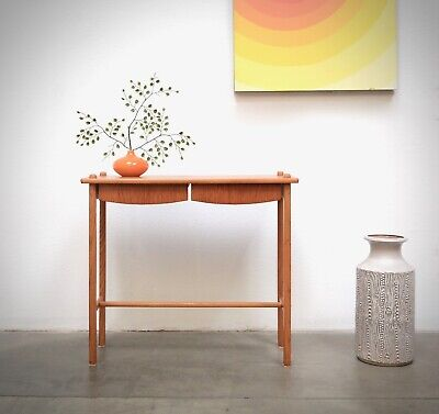1960s Scandinavian Modern TEAK Entry Table Chest Console Danish Mid Century