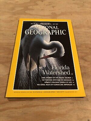 National Geographic- July 1990- Vol 178, No.1 Florida Watershed (C2)