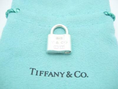Tiffany & Co. Sterling Silver 1837 Collection Lock Charm Pendant