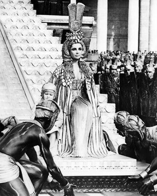 Elizabeth Taylor As Cleopatra Seated On Throne From Cleopatra 16x20 Inch Poster