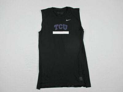 NEW Nike TCU Horned Frogs - Black Compression  Sleeveless Shirt (2XL)