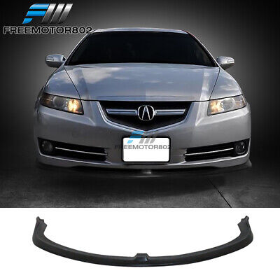 Fits 07-08 Acura TL CS Style Front Lip Spoiler Unpainted - PU Poly Urethane
