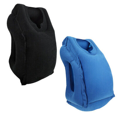 Outdoor travel inflatable pillow PVC flocked head support pillow Body-back Z4P9