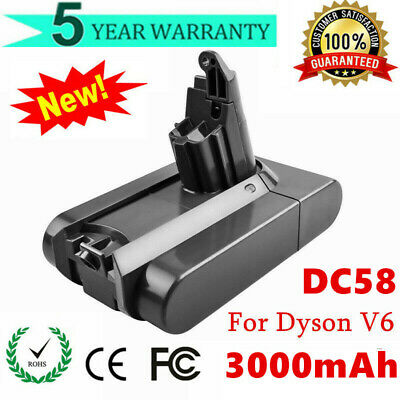 NEW 3000mAh FOR DYSON V6 DC58 DC59 ANIMAL BATTERY DC61 DC62 DC72 DC74 Absolute