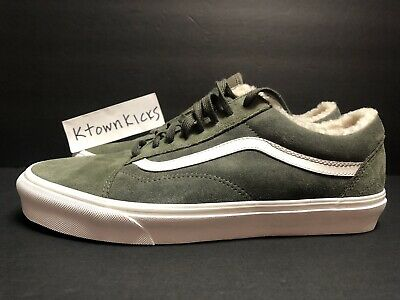 mens 10 Vans Old Skool Suede Sherpa Grape Leaf Green VN0A38G1ULZ NIB sk8
