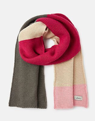 Joules 207393 Chunky Scarf Knitted in DEEP FUCHSIA in One Size