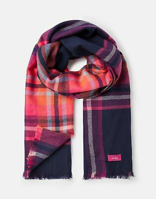 Joules 207391 Woven Longline Scarf in FRENCH NAVY CHECK in One Size